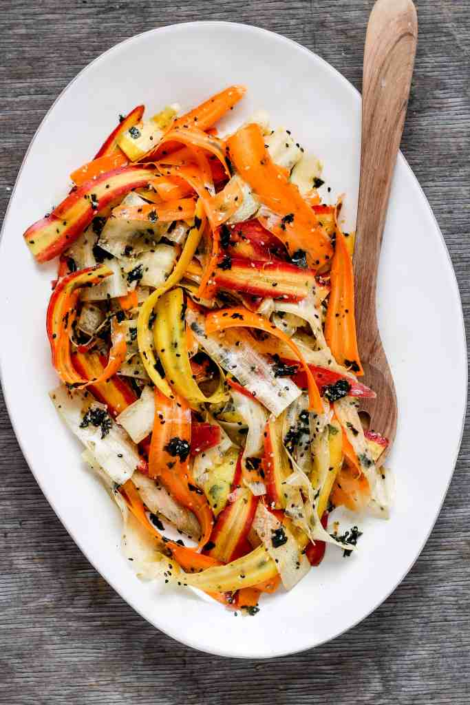 How to Make Shaved Carrot Seaweed Salad