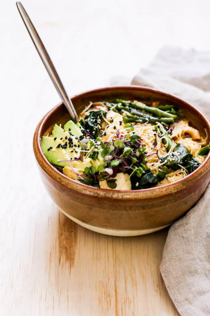 Cozy and comforting, this vegetable-packed ramen bowl is perfect for lunch or dinner during the week. Naturally vegan recipe!
