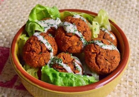 Vegan Baked Falafels