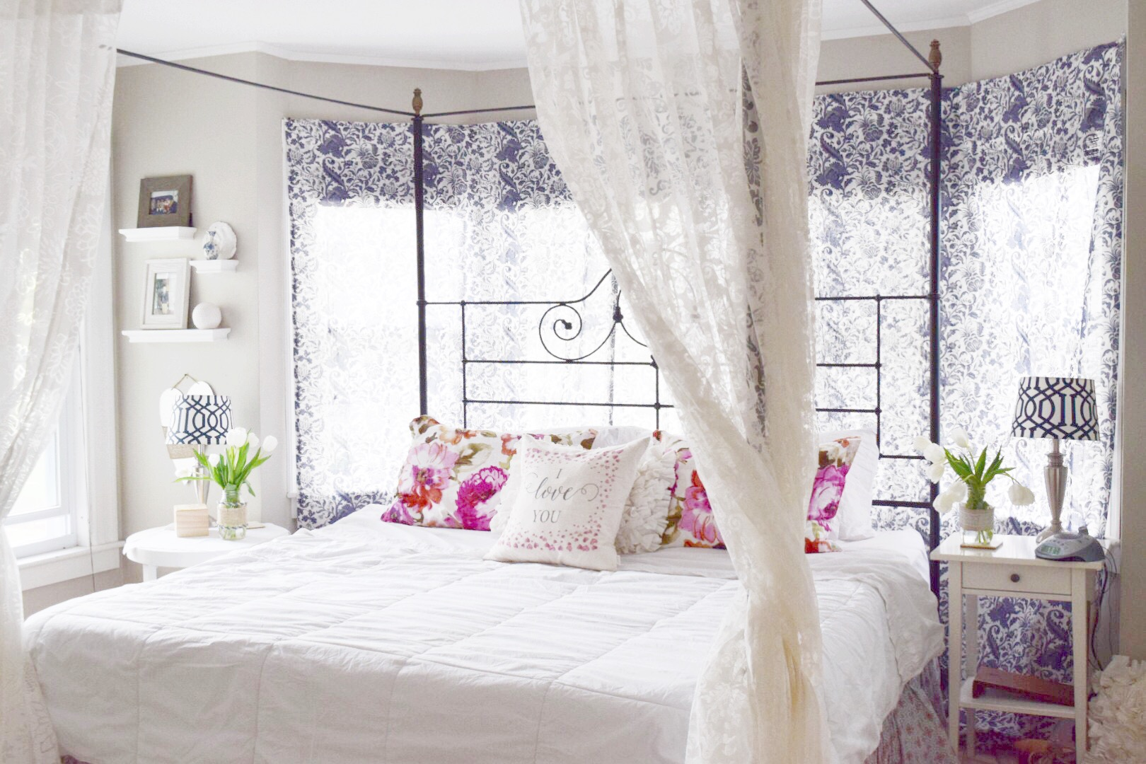Our house was built in 1890  It is a big house actually  but our bedroom is  small  Good thing we don t hang out in it  In our house that we built our. May Flowers Home and Garden Tour Master Bedroom   Gratefully Vintage