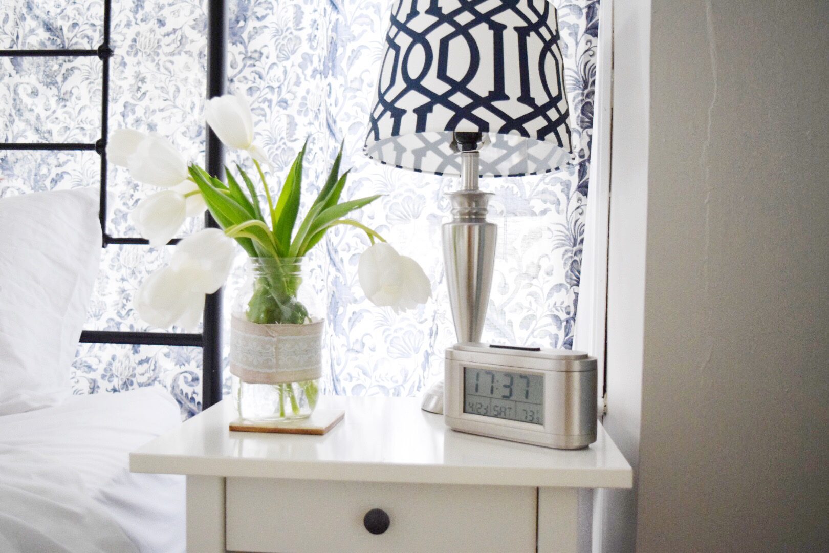 I hope you have enjoyed my 2 simple tips to add spring to your bedroom. May Flowers Home and Garden Tour Master Bedroom   Gratefully Vintage
