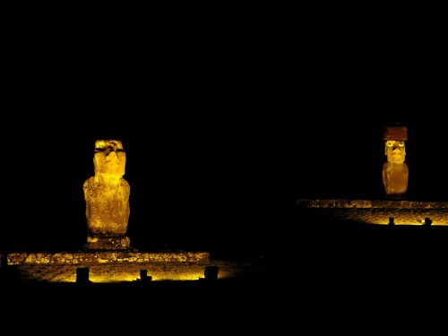 moai sculptures Easter Island