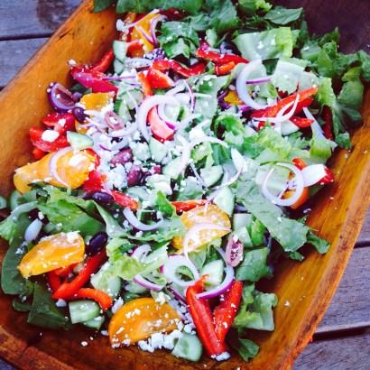 A basic Greek salad