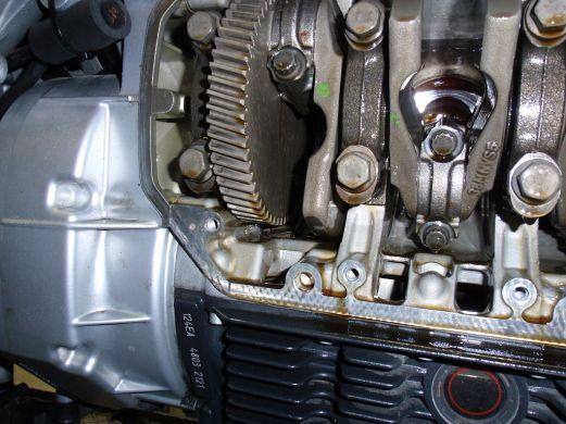 offener Kurbelwellentrieb einer BMW K1200RS