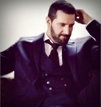 2014 portrait in double breasted waistcoat by Sarah Dunn Photography