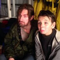 """2014 behind the scenes of """"Urban and the Shed Crew"""" mugging with Fraser Kelly"""