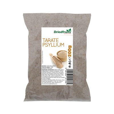 punga de 200g de tarate psyllium driedfruits.ro