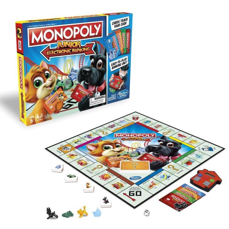 Monopoly junior, banca electronica, jocuri de interior pentru copii, jocuri cu animale,