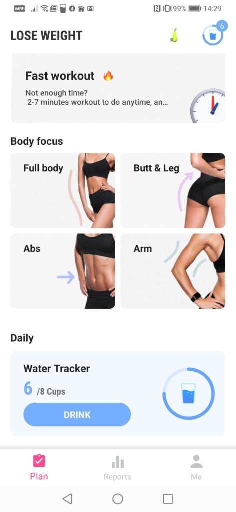aplicatie mobil pentru sport si slabit
