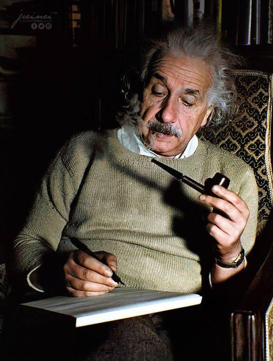 Einstein la lucru