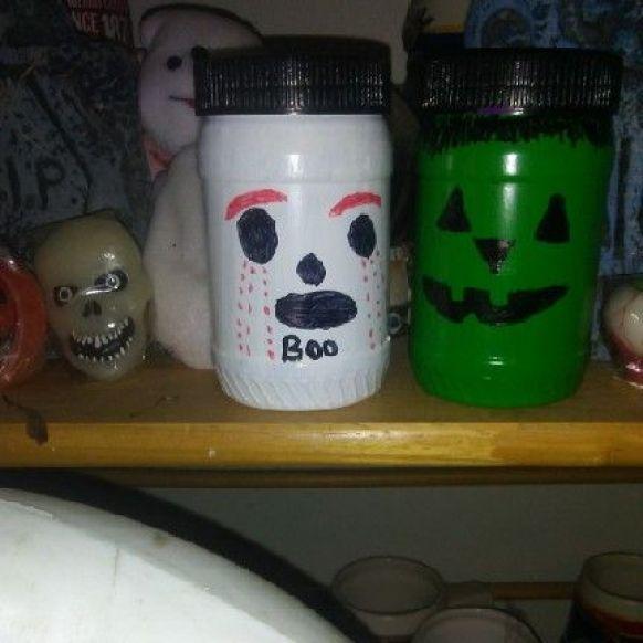 decoratiuni halloween copii, borcane, usor