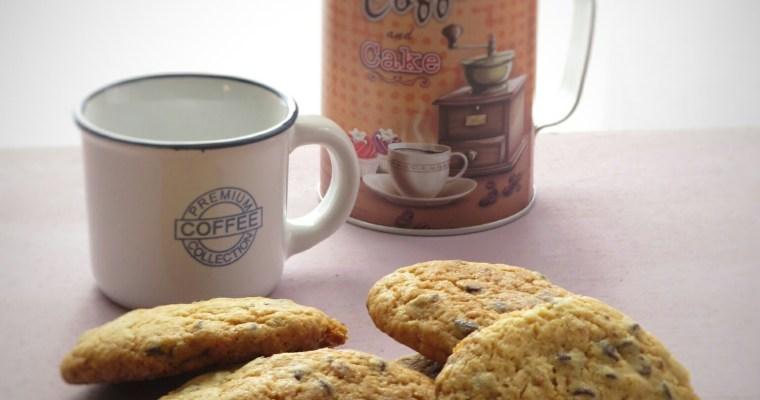 Coccole e cookies con gocce di cioccolato