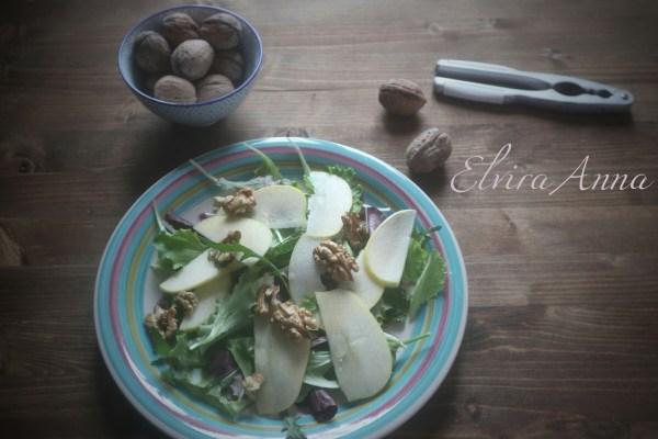 insalata con mele e noci