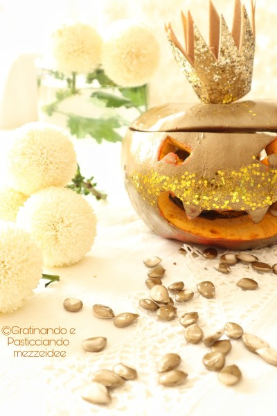 glam pumpkin di Halloween