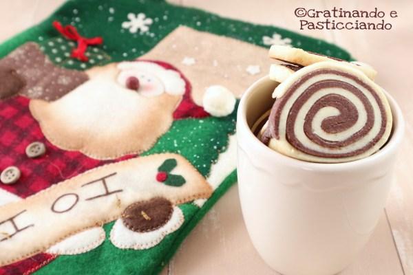 biscotti bicolore di Natale