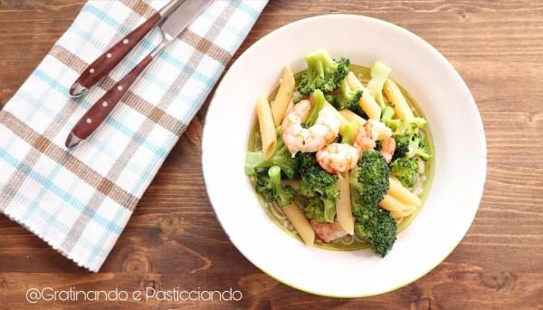 pasta broccoli e gamberi
