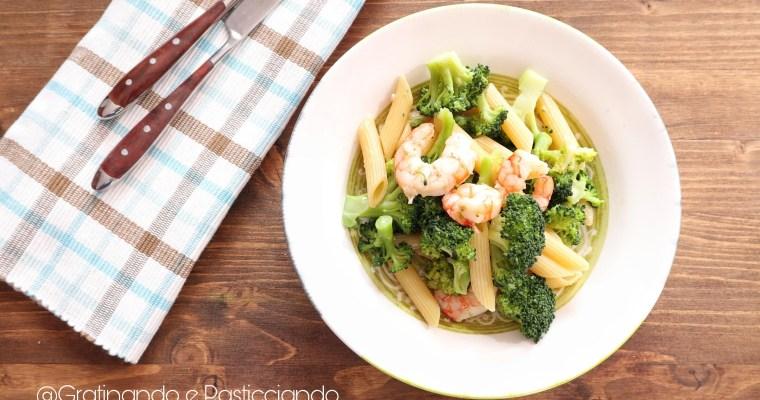 pasta con broccoli e gamberi