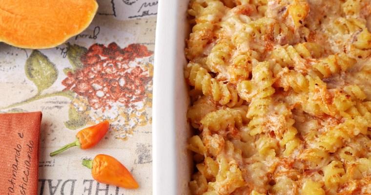 Pasta al forno con zucca e ricotta