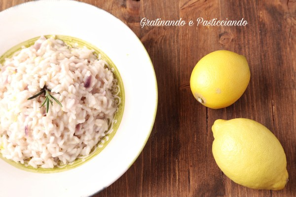 Risotto al limone e rosmarino