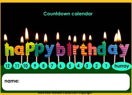 Birthday Countdown Calendar Website