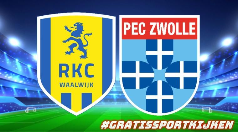 Livestream RKC Waalwijk - PEC Zwolle via gratissportkijken.nl