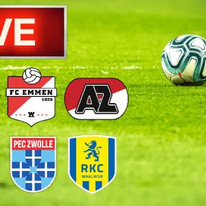 Livestream FC Emmen - AZ en PEC Zwolle - RKC