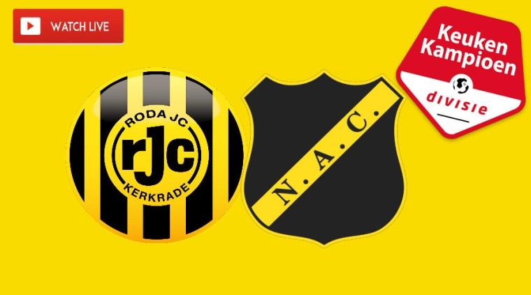 Roda JC - NAC kijken via een gratis livestream