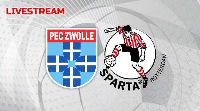 Gratis livestream PEC Zwolle - Sparta