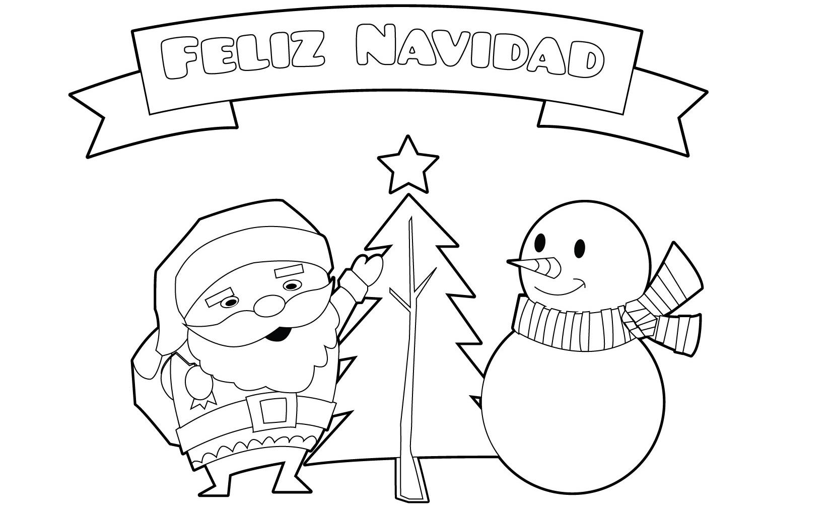 Dibujos De Navidad Para Colorear Gratis Novocom Top