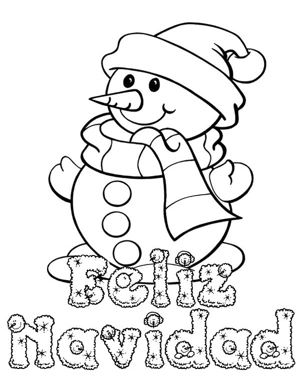 Dibujos De Navidad Para Colorear E Imprimir Grandes Gratis