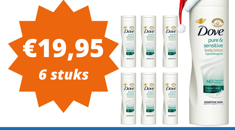 6 of 12 pack 400 ml Dove Pure and Sensitive bodylotion