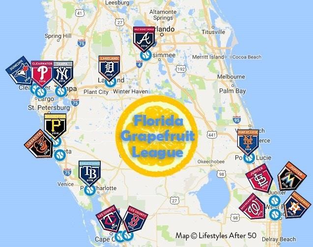 Spring Training 2019 Florida Map Spring Training   grativibe