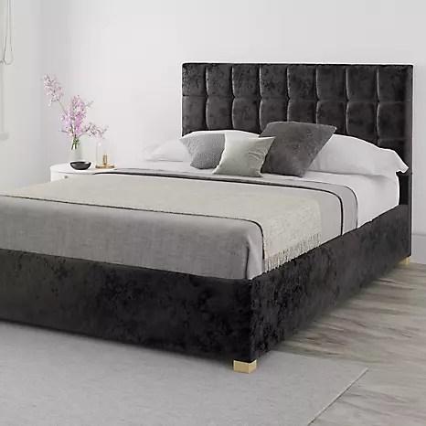 Aspire Hampton Velvet End Lift Ottoman Storage Bed Grattan