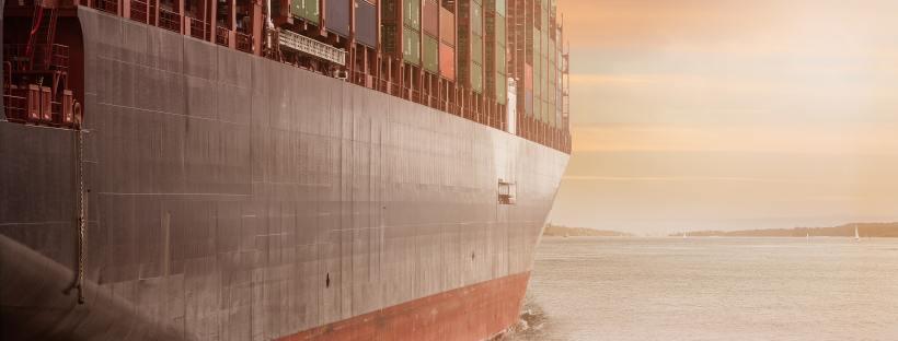 Cargo ship sets sail