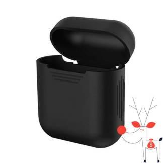 Husa silicon Apple Airpods, carcasa protectie suport casti