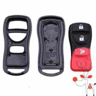 Carcasa cheie auto Nissan, 3 butoane, model X-Trail, Tiida, LIVINA, QASHQAI, Paladin