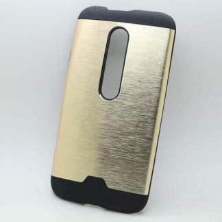 Carcasa protectie Motorola Moto G3, 2 piese, spate din aluminiu