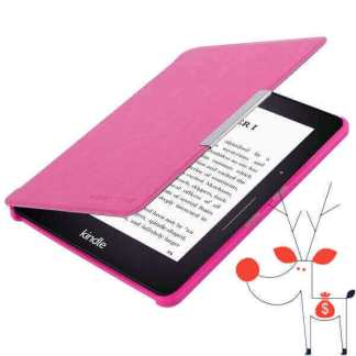 Husa Amazon Kindle Voyage, carcasa protectie flip cover tip carte, ebook reader