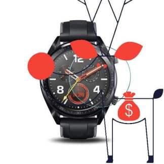 Folie sticla Huawei Watch GT, Tempered Glass, protectie ecran ceas Smartwatch
