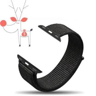 Curea nylon Apple Watch 42mm, bratara ceas seria 1, 2, 3, gri