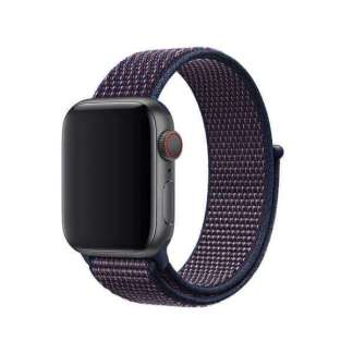 Curea indigo nylon Apple Watch 38mm, curea ceas seria 1, 2, 3