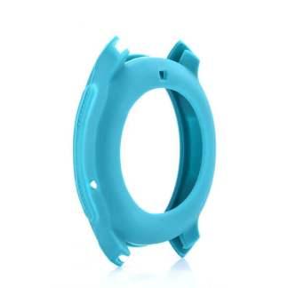 Carcasa silicon Samsung Watch 46mm, husa protectie margine ceas, turcoaz