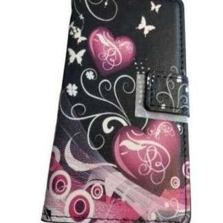 Husa-protectie-Sony-Xperia-z3-tip-carte-flip-cover-model-inimioare-fluturasi