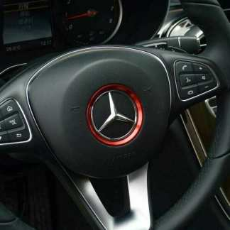 Inel-ornament-decor-buton-logo-emblema-volan-Mercedes-Benz-CLA-GLC-E-A