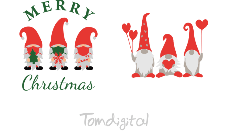Christmas Gnomes svg