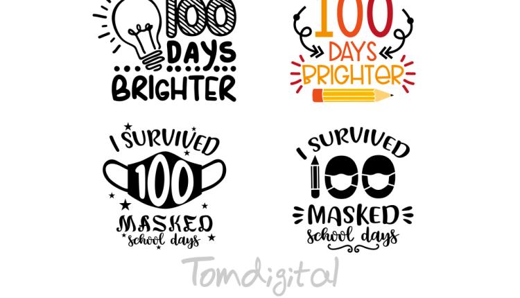 I survived 100 masked school days SVG