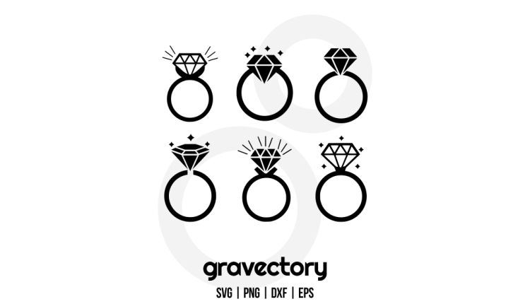Diamond Ring SVG Cut Files