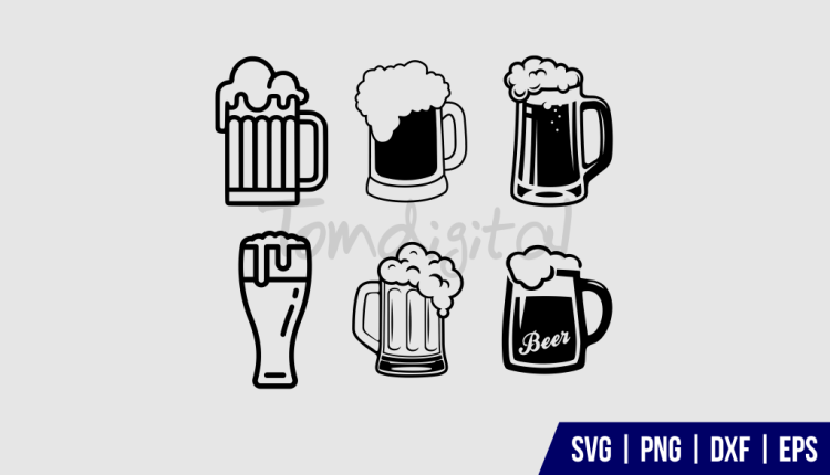 Beer Mug Clipart SVG