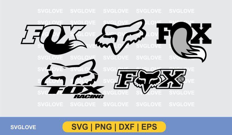fox racing svg logo vector