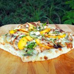Chicken, Peach & Gorgonzola Pizza